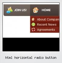 Html Horizontal Radio Button