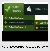 Html Javascript Disable Buttons
