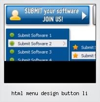 Html Menu Design Button Li