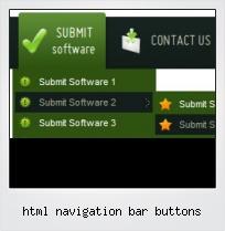 Html Navigation Bar Buttons