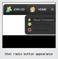 Html Radio Button Appearance