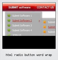 Html Radio Button Word Wrap