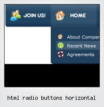Html Radio Buttons Horizontal