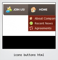 Icons Buttons Html