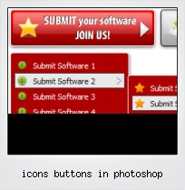Icons Buttons In Photoshop