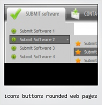 Icons Buttons Rounded Web Pages