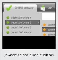 Javascript Css Disable Button