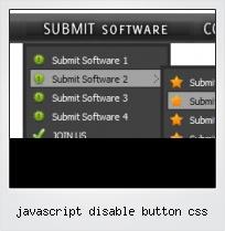 Javascript Disable Button Css