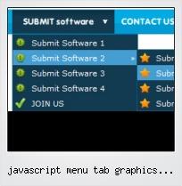 Javascript Menu Tab Graphics Buttons