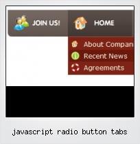 Javascript Radio Button Tabs