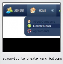 Javascript To Create Menu Buttons