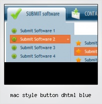 Mac Style Button Dhtml Blue