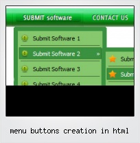 Menu Buttons Creation In Html