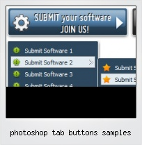 Photoshop Tab Buttons Samples