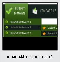 Popup Button Menu Css Html