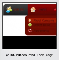 Print Button Html Form Page
