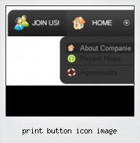 Print Button Icon Image