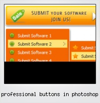 Professional Buttons In Photoshop