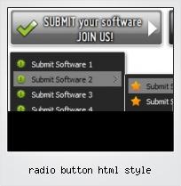 Radio Button Html Style
