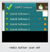 Radio Button Icon Set