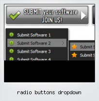 Radio Buttons Dropdown