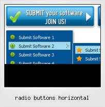 Radio Buttons Horizontal