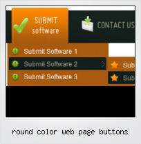 Round Color Web Page Buttons