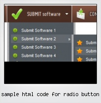 Sample Html Code For Radio Button