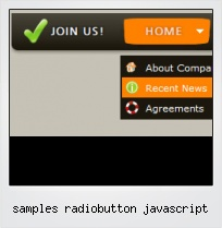 Samples Radiobutton Javascript