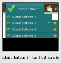 Submit Button In Tab Html Sample