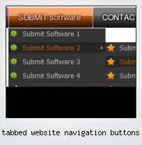 Tabbed Website Navigation Buttons
