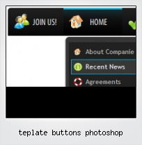 Teplate Buttons Photoshop