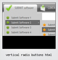 Vertical Radio Buttons Html