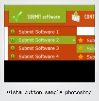 Vista Button Sample Photoshop