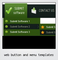 Web Button And Menu Templates