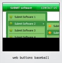 Web Buttons Baseball
