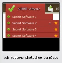 Web Buttons Photoshop Template