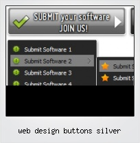 Web Design Buttons Silver