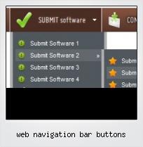 Web Navigation Bar Buttons