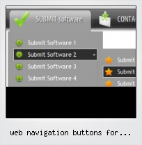 Web Navigation Buttons For Webpages