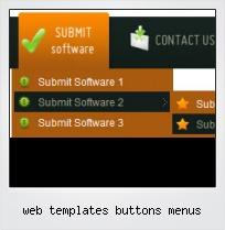 Web Templates Buttons Menus