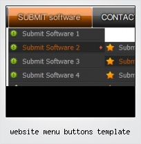 Website Menu Buttons Template