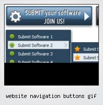 Website Navigation Buttons Gif