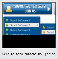 Website Tabs Buttons Navigation