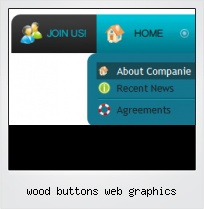 Wood Buttons Web Graphics