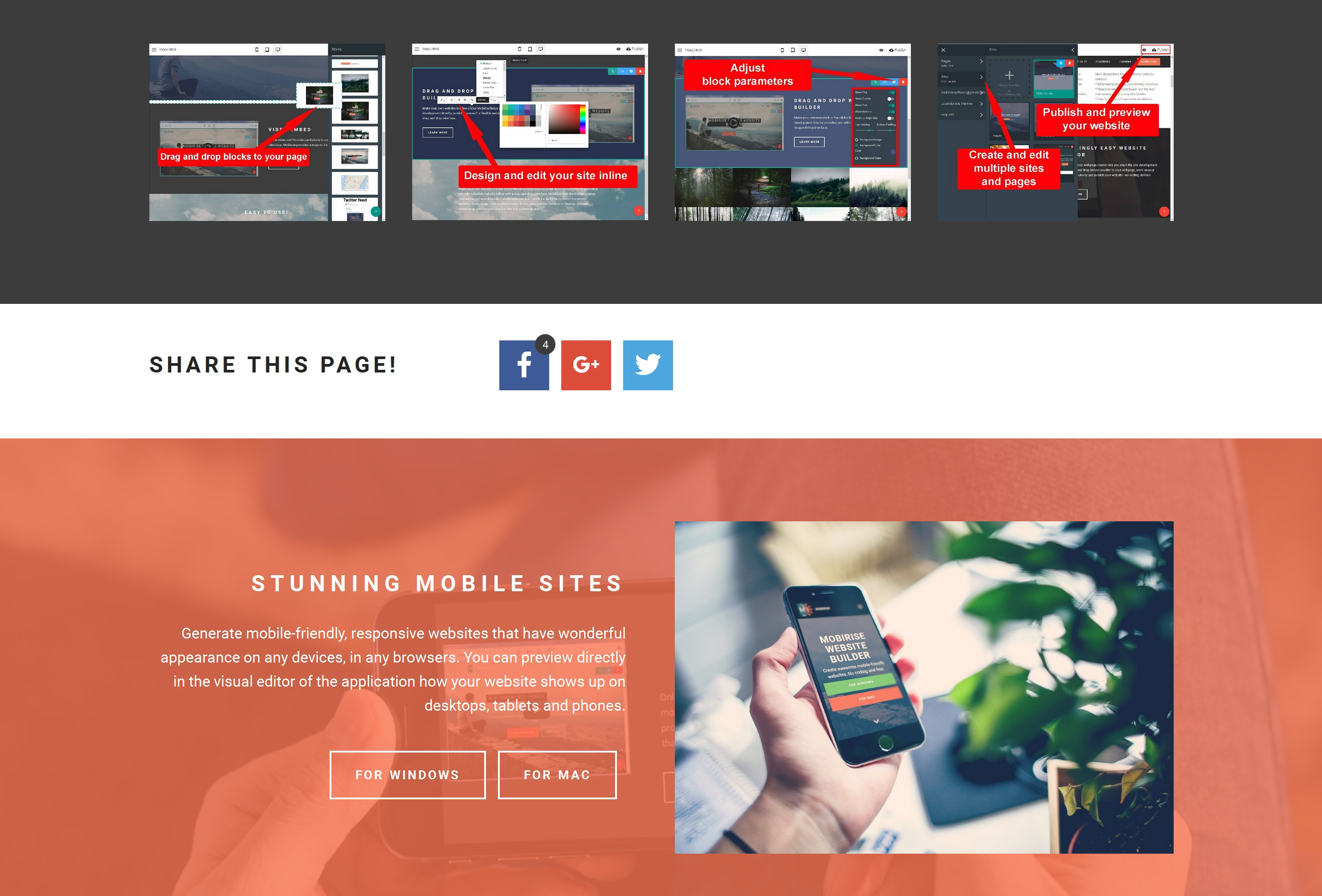 Simple Responsive Web Page  Builder Review