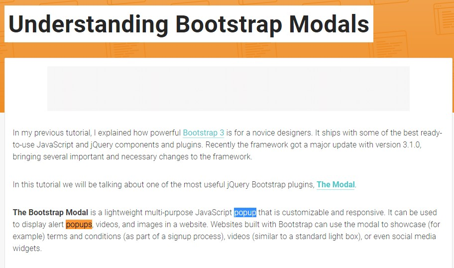 Yet another  helpful  content about Bootstrap Modal Popup