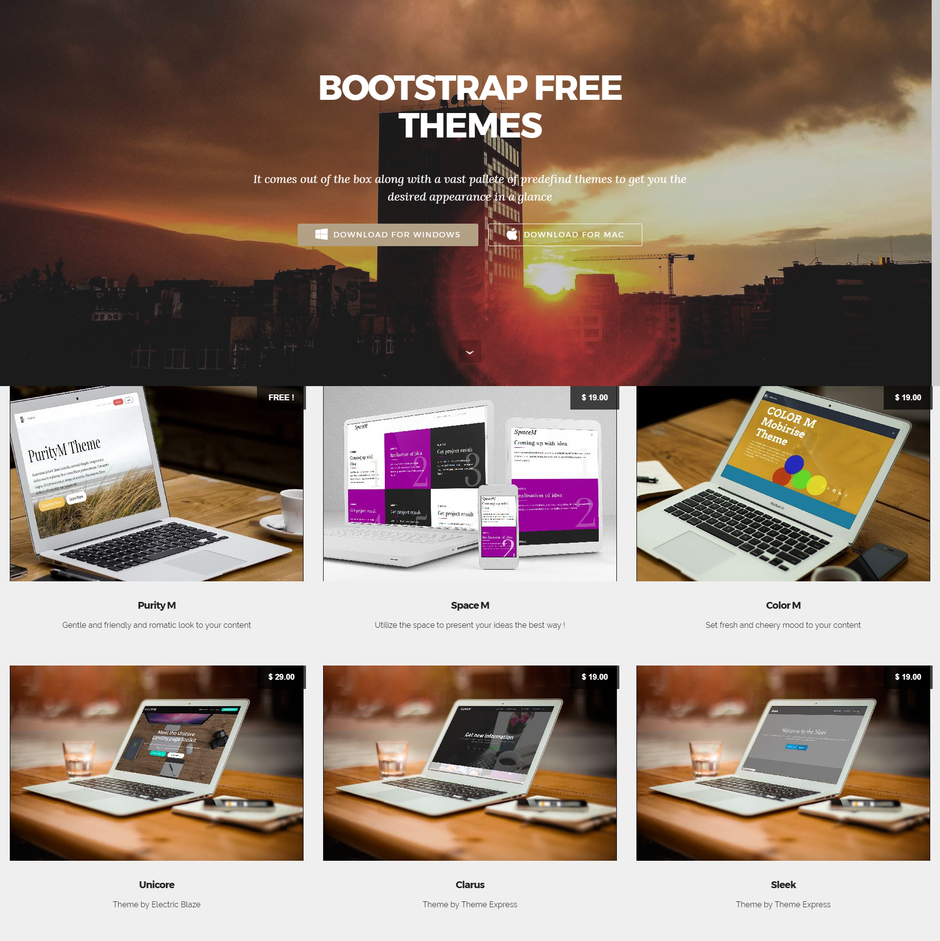 Free Bootstrap Mobile-friendly Templates