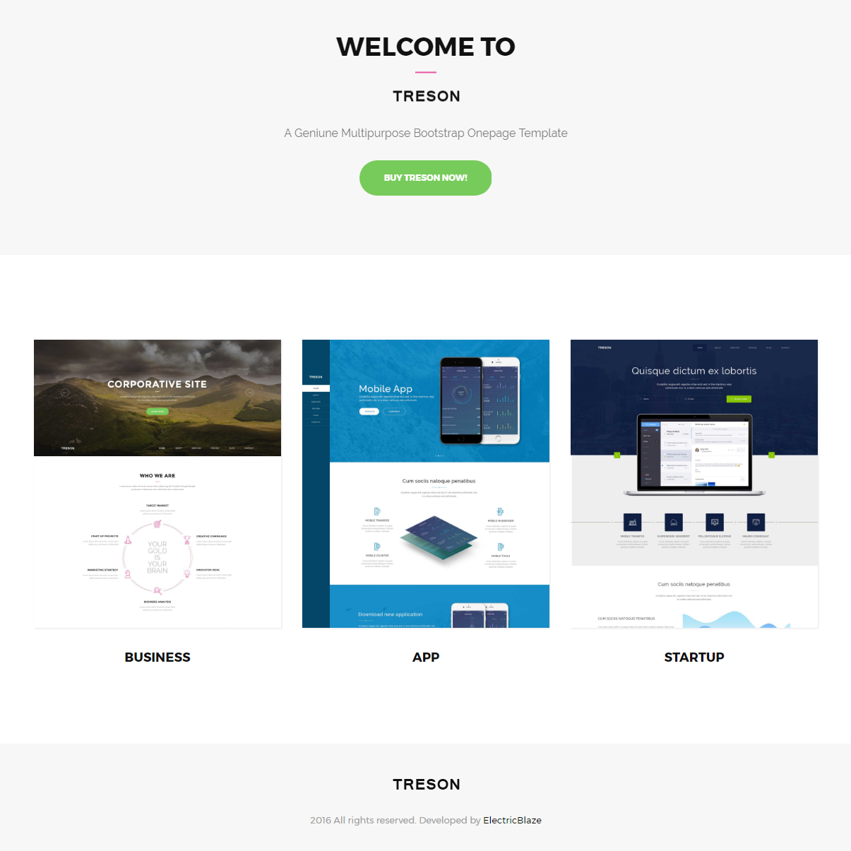 Free Bootstrap Treson Templates
