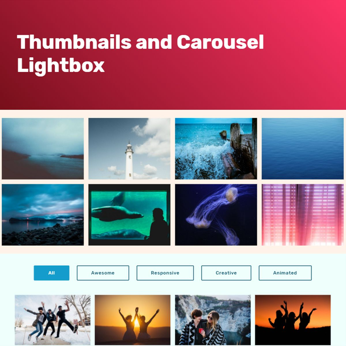 Mobile Bootstrap Image Carousel